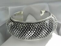 ✨AMAZING✨ 95g sterling silver 925 chunky cuff bangle statement bracelet