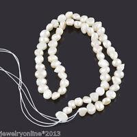 1Strang Zuchtperlen Süßwasser Perlen zum Basteln 5x5mm-9x6mm