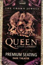 Queen W/ Adam Lambert Park Vegas Sept 2018 Orig 3-D Lenticular Credential Rare