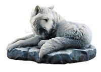 """7.75"""" Guardian of the North by Lisa Parker Wolf Statue Sculpture Figure Decor"""