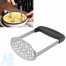 Wide Grip Metal Potato Masher Heavy Duty Stainless Steel Ricer