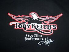 Toby Keith's I Love This Bar & Grill Thackerville OK Graphic Print T-Shirt L