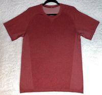 Lululemon Mens Heathered Red Metal Vent Tech SS T Shirt Top Yoga Gym - Medium M
