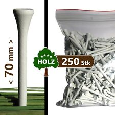 GOLF-TEES | Holz - 70 mm - weiß | 250, 500, 1000 Stk | premium V1 wood tees Pro+