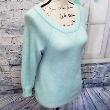 JCrew Women's 100% Italian Cashmere Light Blue Long Sleeve Sweater | Size S