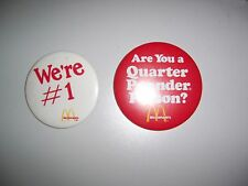 Vintage McDonalds Pins We're #1 and Are You a Quarter Pounder Person?