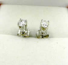Beautiful 0.40ctw 14k White Gold Natural Diamond Stud Earrings