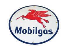 Corvette Decor: Mobilgas Fuel Porcelain Sign