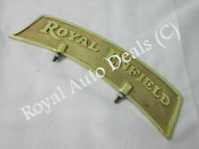 Royal Enfield Embossed Brass Front Mudguard Number Plate