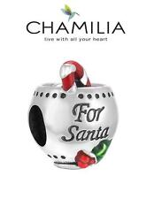 Genuine CHAMILIA 925 sterling silver &  enamel Christmas SANTA'S BREW charm