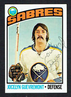 Jocelyn Guevremont #108 signed autograph auto 1976-77 Topps Hockey Trading Card