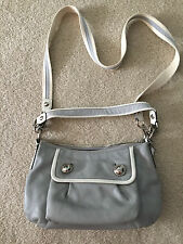 NEW Coach Poppy Gray Leather Groovy Crossbody convertible Purse Satchel # 13850