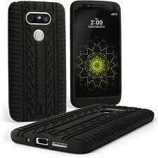 Negro Funda Carcasa Cubierta Silicona para LG G5 H850 Neumático Goma Case Cover