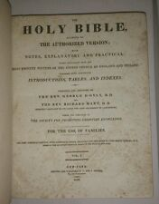 HOLY BIBLE George D'Oyly and Richard Mant 1818/1829 1st US Ed 2 vol free S/H