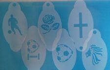 6 x England World Cup football themed face paint stencils  English  flag player