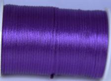 purple 2MM Rattail Satin Cord Macrame Beading Nylon kumihimo String DIY 10yd