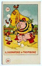 Figurina Anni 1930 Elah/Disney - N°30 Il Suonatore Di Trombone (Premio Topolino)