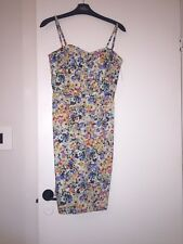 Oasis Multicoloured floral pencil dress size 8