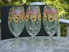 """6 Pfaltzgraff Pistoulet Iced Tea Water Glasses 9 1/4"""" Mint Condition"""