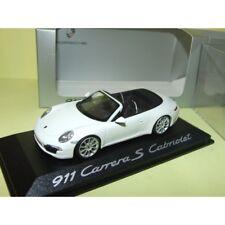 PORSCHE 911 CARRERA S CABRIOLET 991 Blanc MINICHAMPS 1:43
