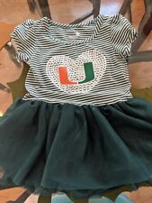 University Of Miami, Toddlers 2T, Green/White, Miami U, Miami Hurricanes, NWT