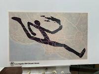 Martin Puryear vintage 1984 LA Olympics RUNNING art print NEVER FRAMED 36X24