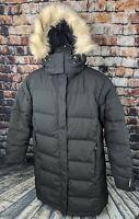 LL Bean Ultrawarm Coat Women's XL Petite Long - Down Puffer Jacket Hooded Parka