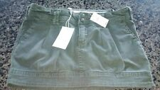 Abercrombie & Fitch mini Skirt Size 0 Army Green NWT