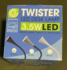 New Unopened Box Greenlite Twister Led Desk Lamp Fully Adjustable (Black)
