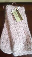 NWT Lemon Cable Knit Angora Blend Pink Blush Slipper Socks Mukluk Super Warm