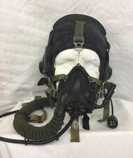 Soviet Leather Flying Helmet&Oxygen Mask Winter KM-32