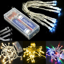 Battery Operated 10/20/30/40/50/80 LED String Fairy Lights Indoor/Outdoor Xmas &