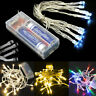 Battery Operated10/20/30/40/50/80 LED String Fairy Light Indoor/Outdoor Xmas BY