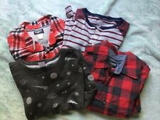 Lot of Boys kids Size 7 Carters Oshkosh Flannel Button Down Shirts Tops