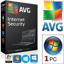 AVG Antivirus Versione Internet Security 2017 1ANNO 1PC -ORIGINALE DURATA VERA-
