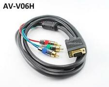 6ft High Quality VGA Male to Component 3RCA Cable for HD Projectors w/ VGA Input