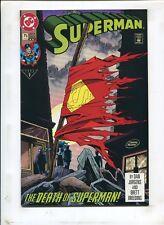 SUPERMAN #75 THE DEATH OF SUPERMAN! (8.0) 1993 4th PRINT