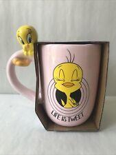 More details for primark looney tunes tweety pie 3d ceramic mug pink boxed *new*