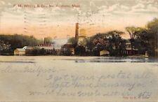 No Attleboro Massachusetts~F M Whiting Silversmith Mill~1907 Postcard