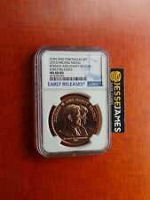 2016 BRONZE MEDAL RONALD NANCY REAGAN NGC MS68 RD FROM COIN CHRONICLES SET 16PA