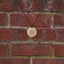 Wooden Handmade Pendant/Necklace- The Sigil of Lucifer, the symbol of Satan.