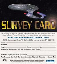 1994 Star Trek Generations Movie Survey Card NM/Mint condition