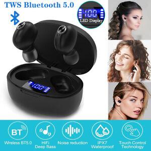 TWS Bluetooth5.0 Kopfhörer stereo Touch Control Kabellos Ohrhörer Headset Sport