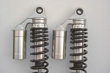 NEW Honda CB400F Alloy Remote Reservoir Shocks for 1975-1977. Cafe Racer.