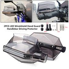 2PCS Motorcycle LED Windshield Hand Guard Signal Light Amber Handlebar 7/8''