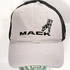 MACK TRUCKS Gray & Black Mesh Nascar Hat Cap Snapback Adjustable One Size