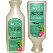 JASON All Natural Organic Aloe Vera Shampoo and Conditioner Bundle with Dry H...