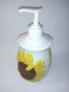 Floral Print Ceramic Hand Soap Dispenser