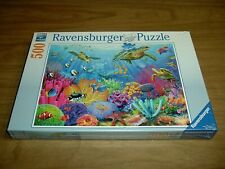 Ravensburger 500 Piece Puzzle, Tropical Waters, Sea Turtles, Coral, Fish