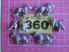 15mm Essex Miniatures Extra Heavy Cavalry Lance/Bow on 1/2 Armoured Horse(Y360)*